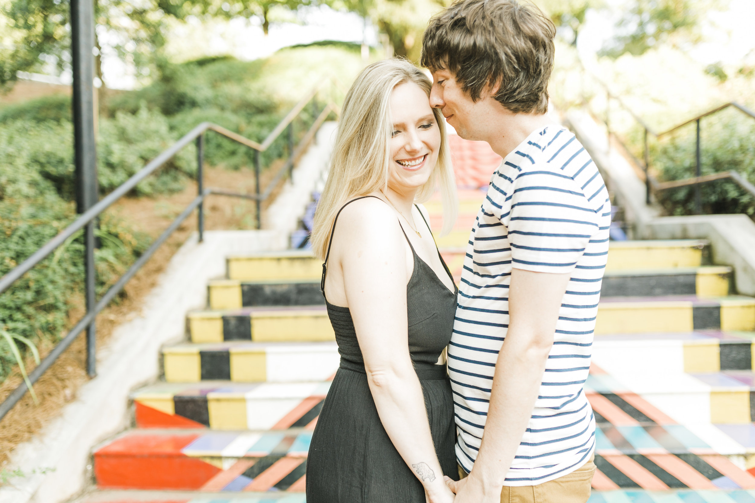 painted stairs knoxville engagement