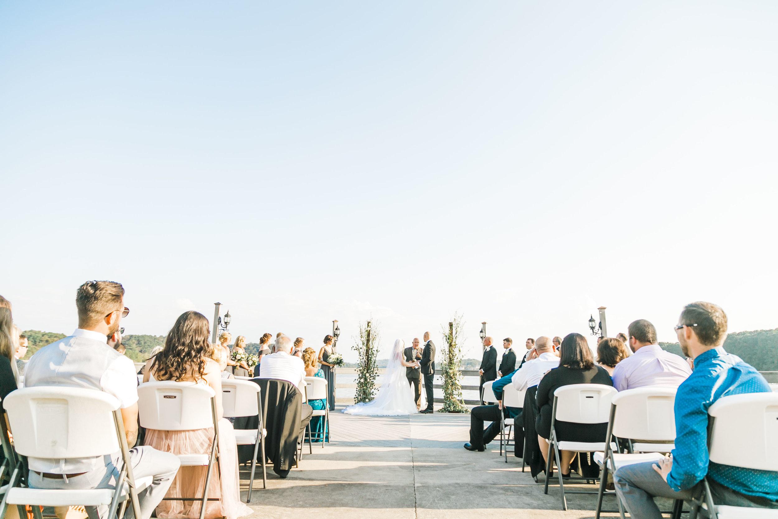 tellico village pier outdoor wedding