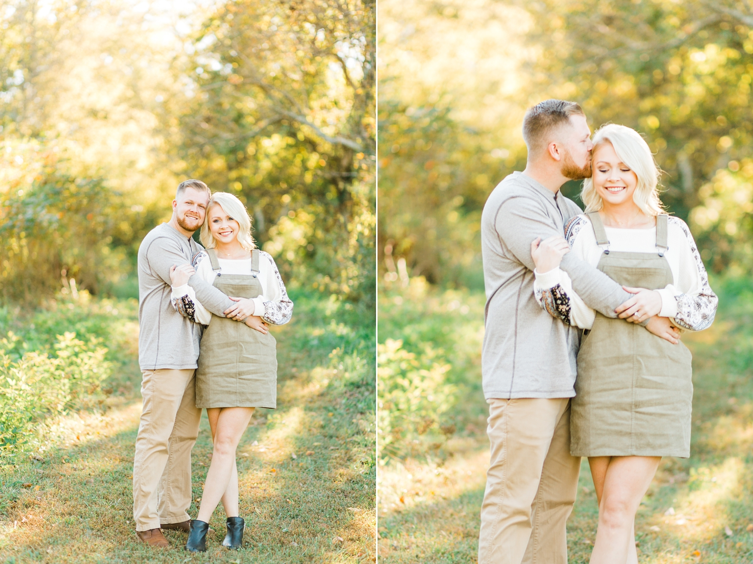 sunset at melton hill park engagement photos couple