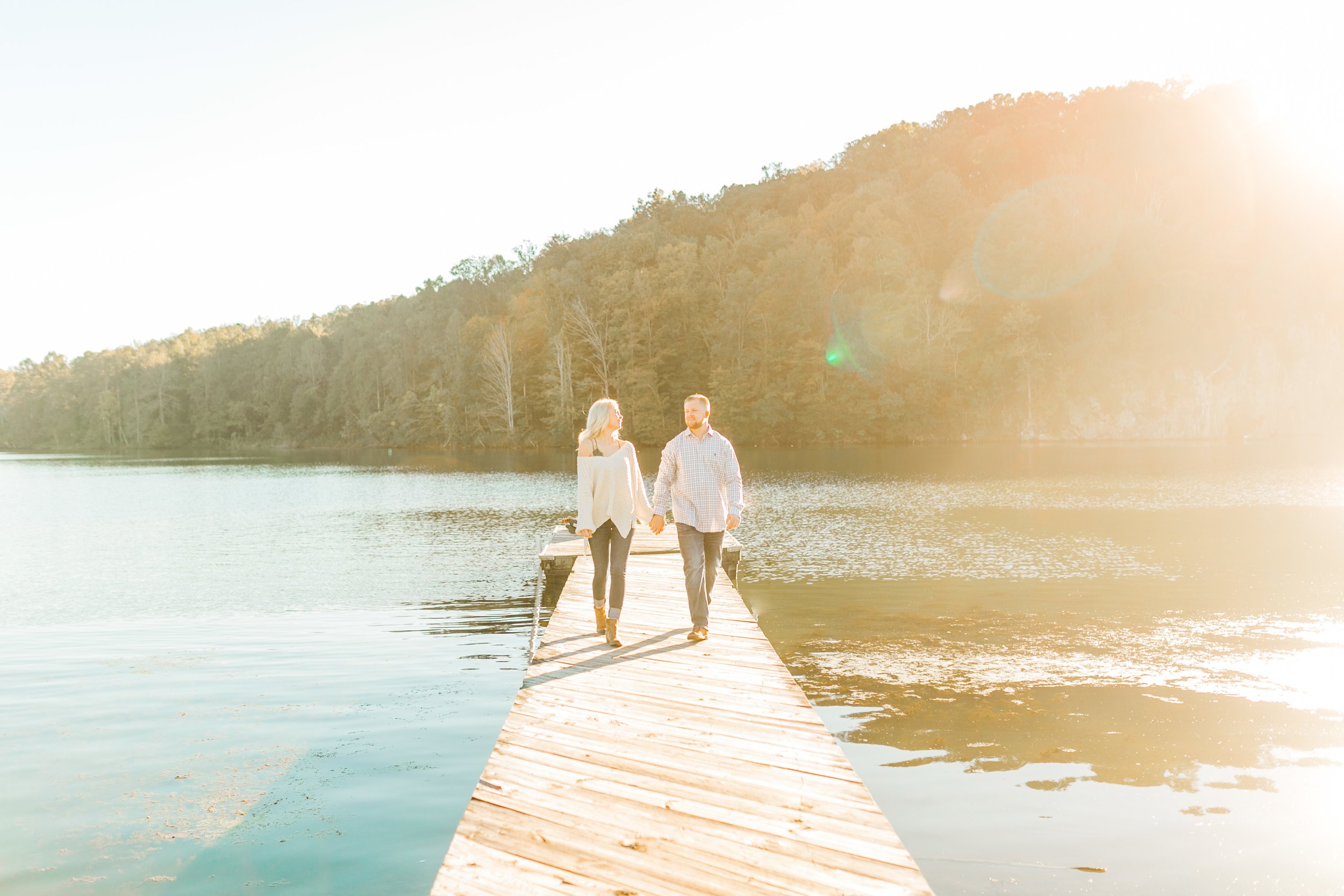 couple on dock at melton hill park
