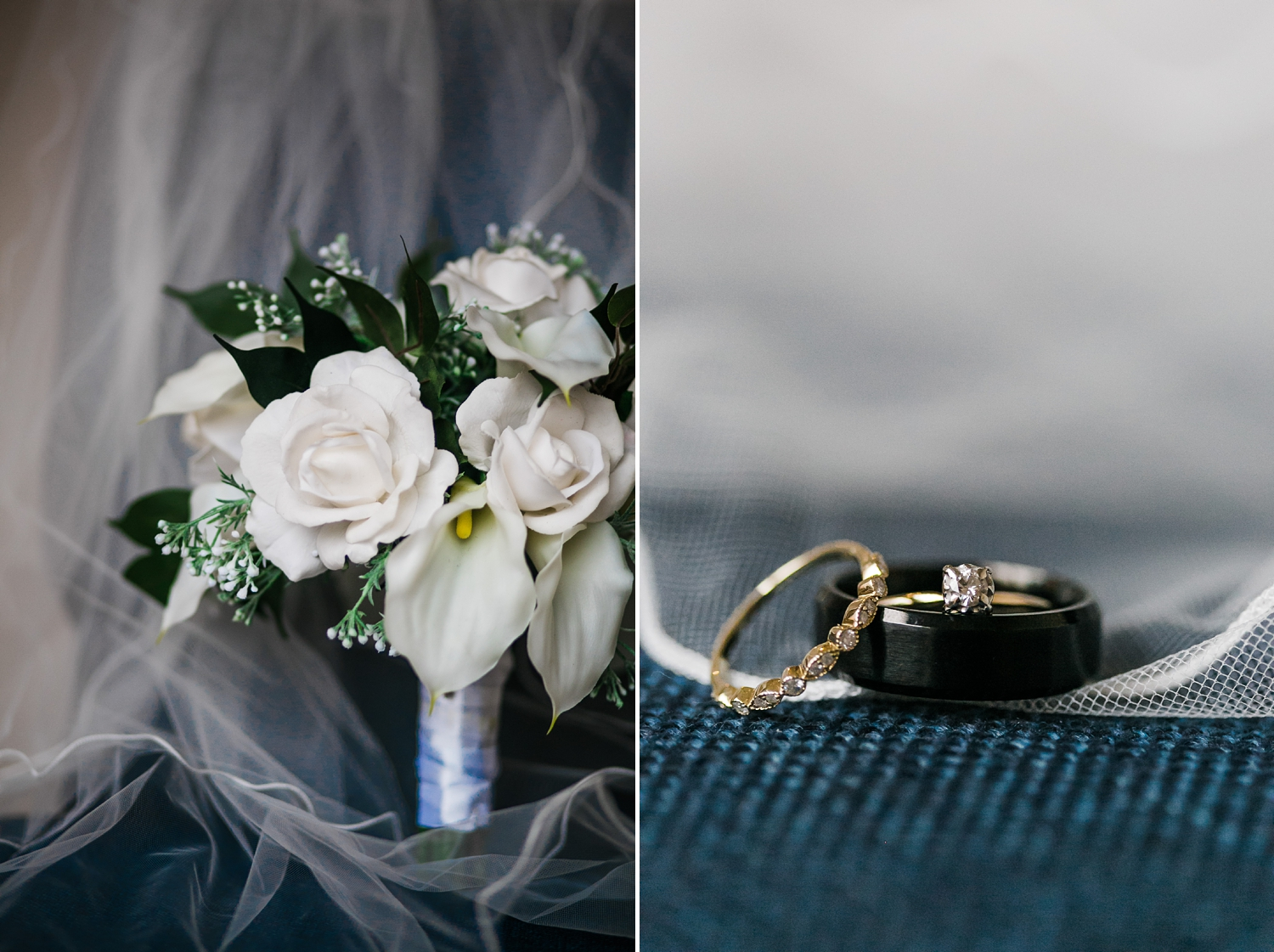 blue wedding details