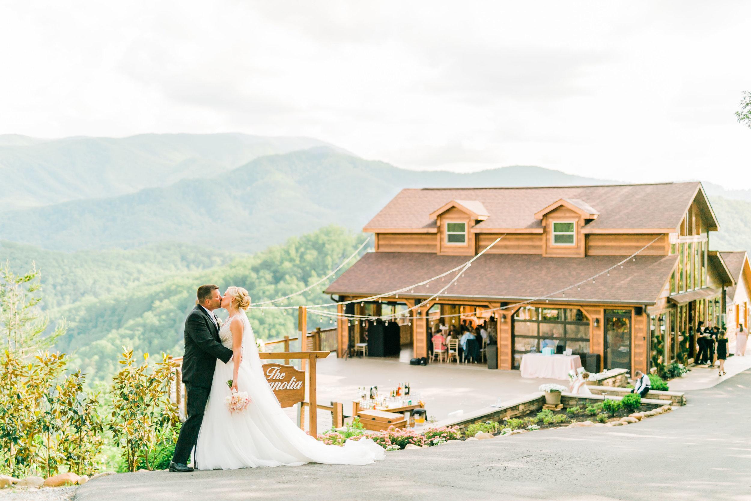 the magnolia venue wedding view great smoky mountain