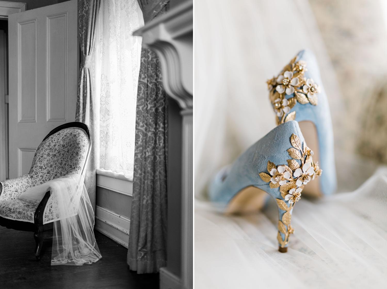 blue fairytale shoes