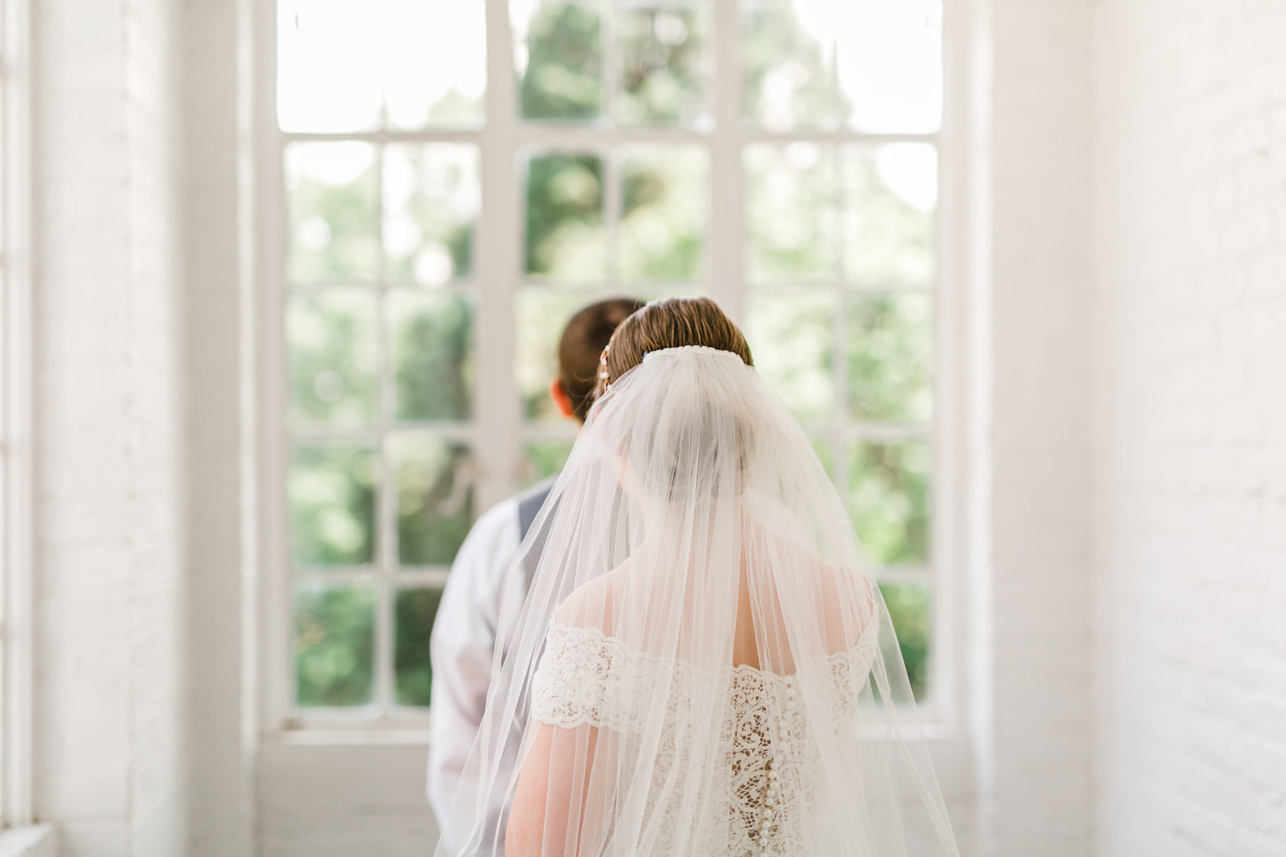 veil from behind