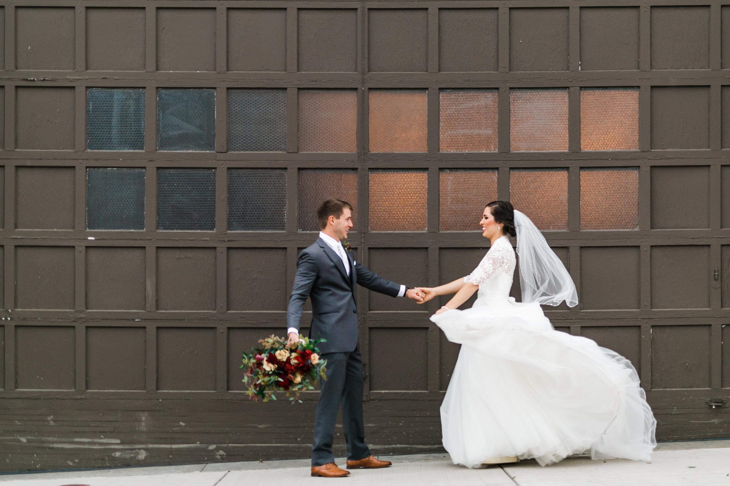 the standard knoxville wedding garage door winter