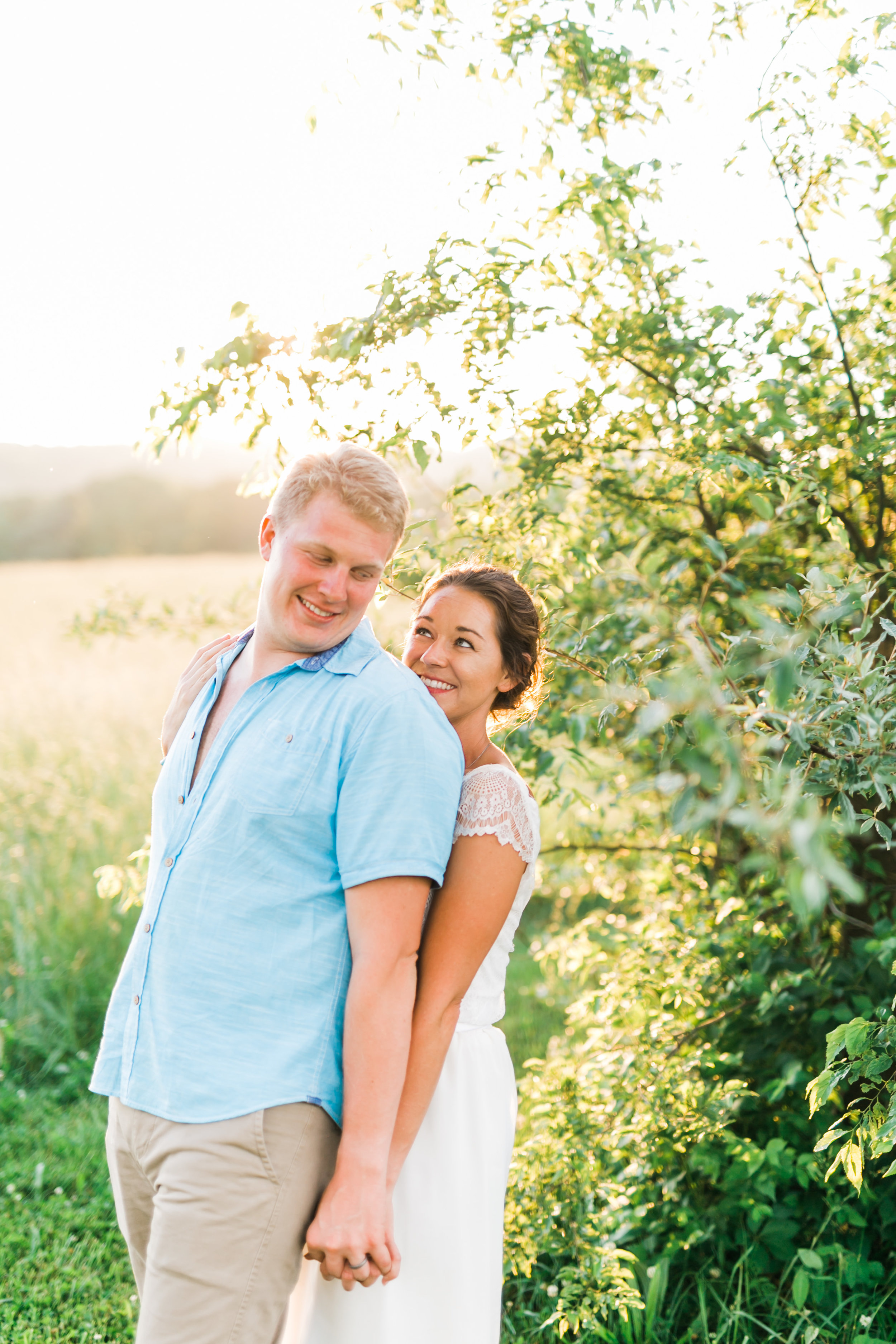 wedding day joyful relaxed diy couple smiling knoxville wedding