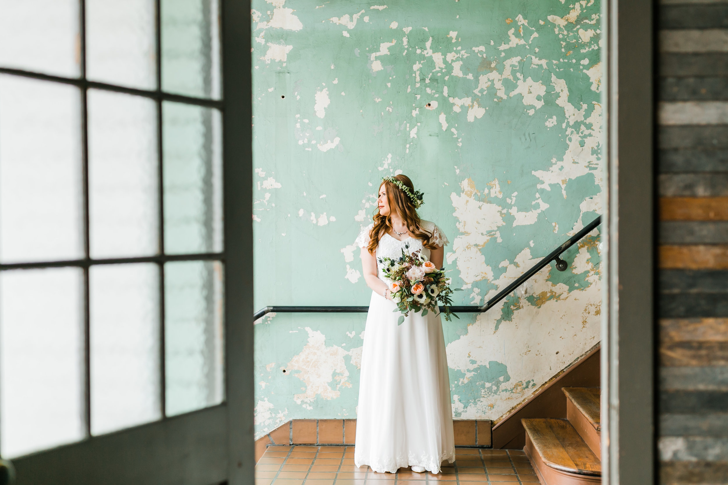 bride at the standard knoxville green walls
