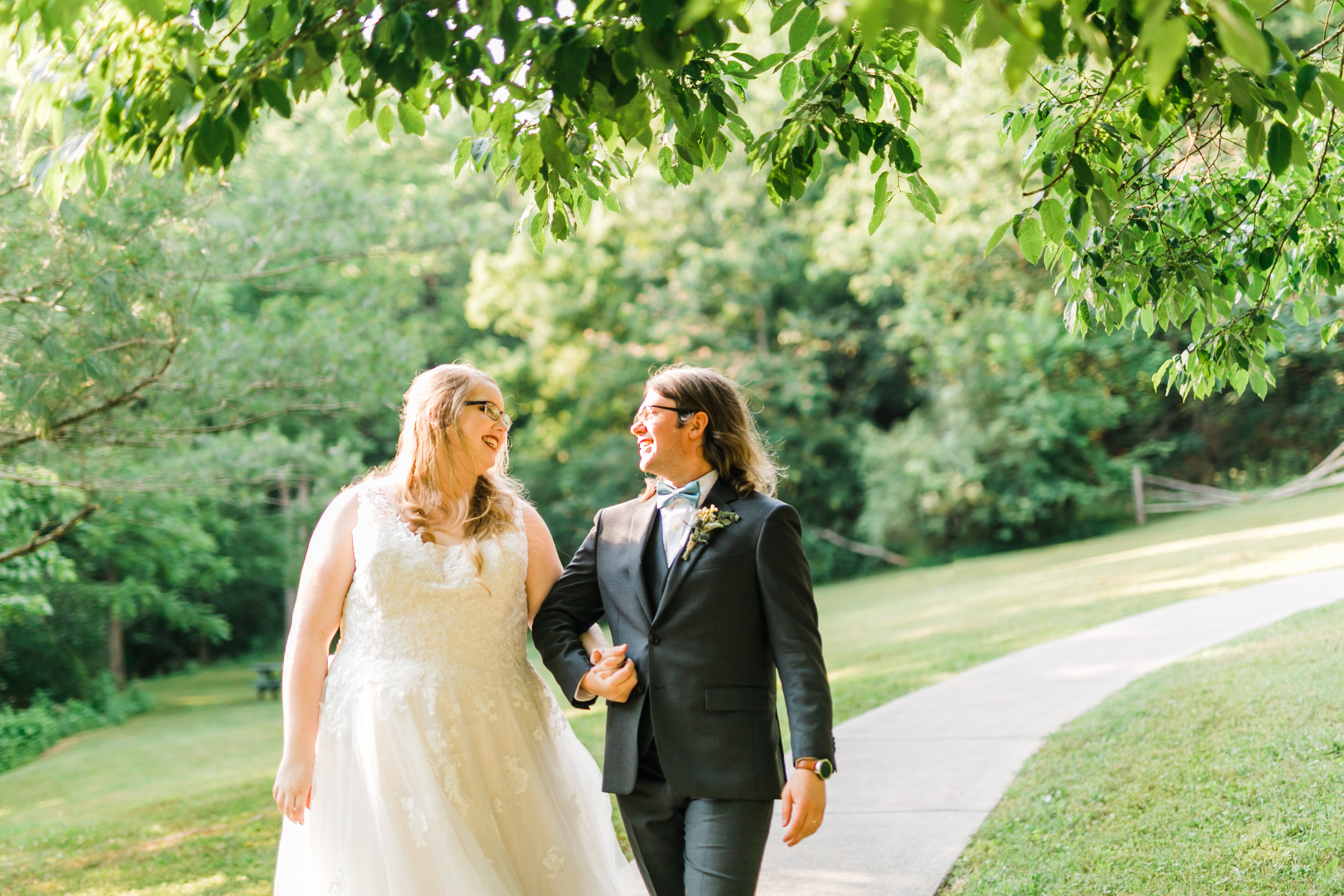 couple smiling wedding cardinals nest venue Tennessee