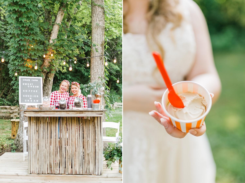 cruz farm ice cream bar wedding cardinals nest