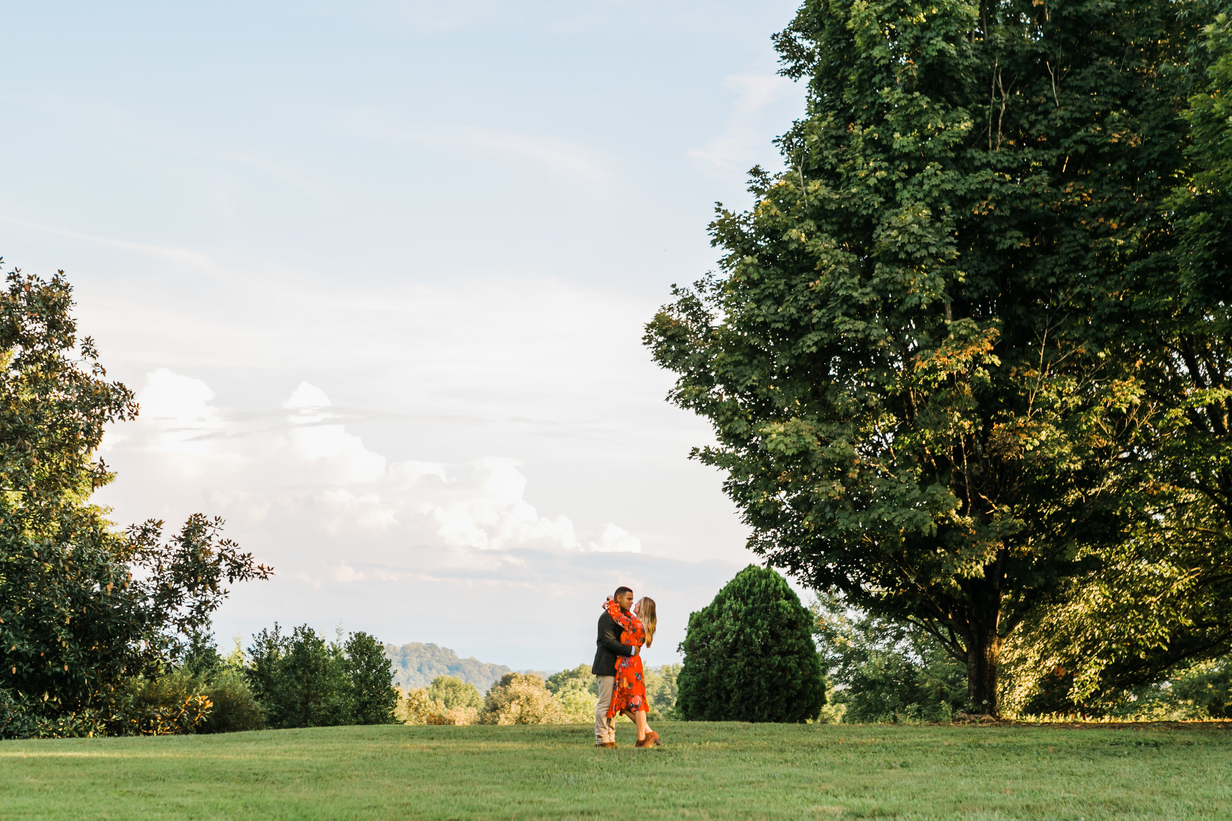 Knoxville engagement photographer bright colors