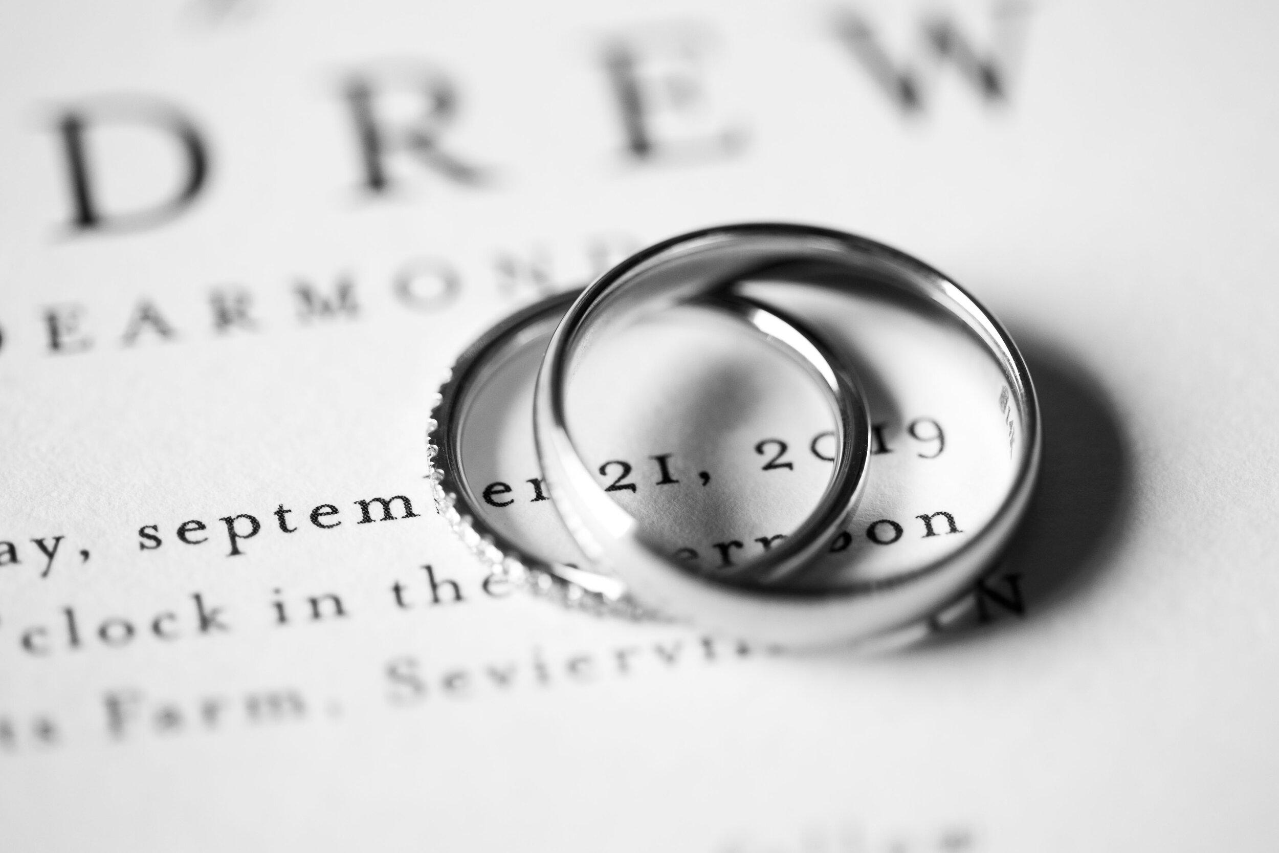 fall wedding rings