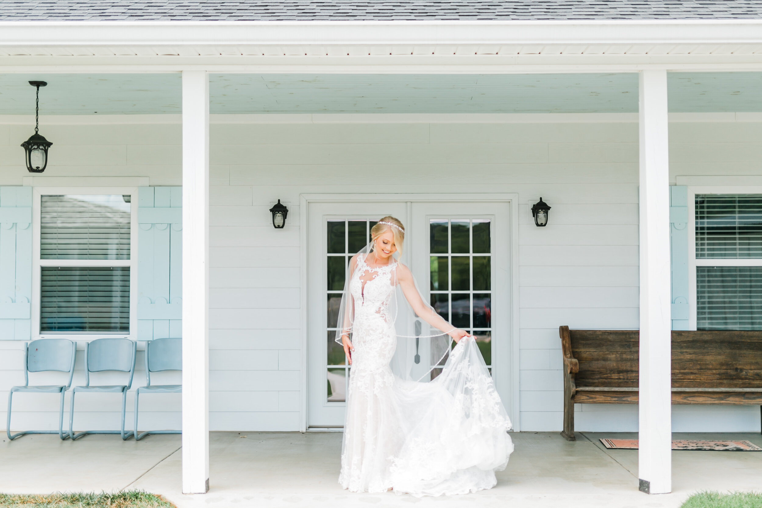 bride flowy dress barn at faith farms