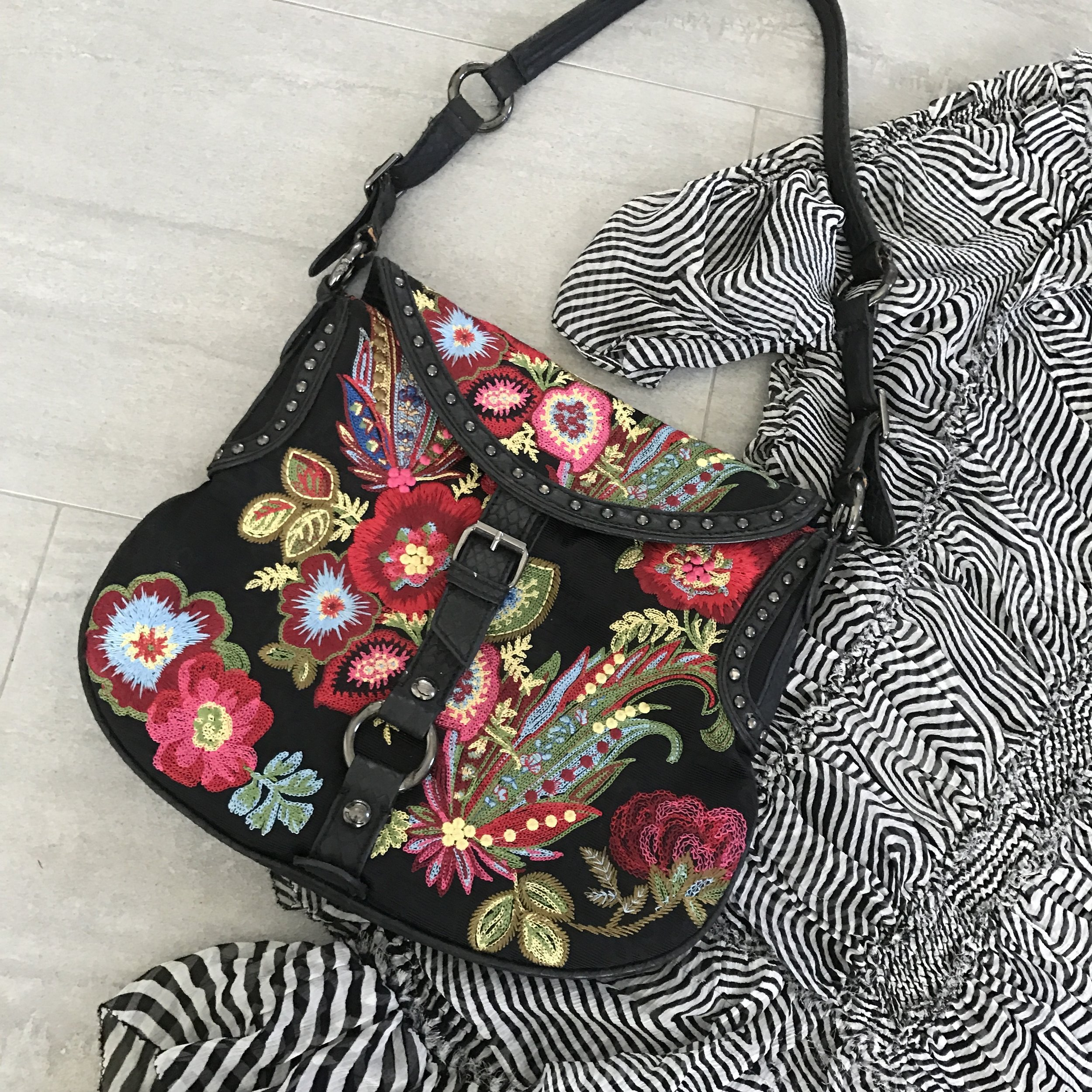 floral bag fashion tip