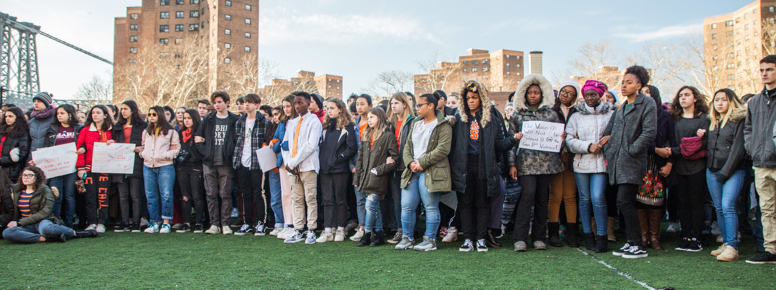 On March 14th, 2018, Students around the country walked out of their classrooms for 17 minutes, a minute for each victim in the Parkland, FL school shooting. Reading off the names of each victim, every student and administration gave a minute of silence. Attorney General Eric Schneiderman and his daugter Cat attended the vigil.