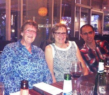 Elspeth Gold (left), Gail Risbridger and Francesco Elia Marino in occasion of the 10th International Congress of Andrology, Melbourne Australia. February 2013. The two academics pictured with Francesco here were the most influential mentors he ever had.