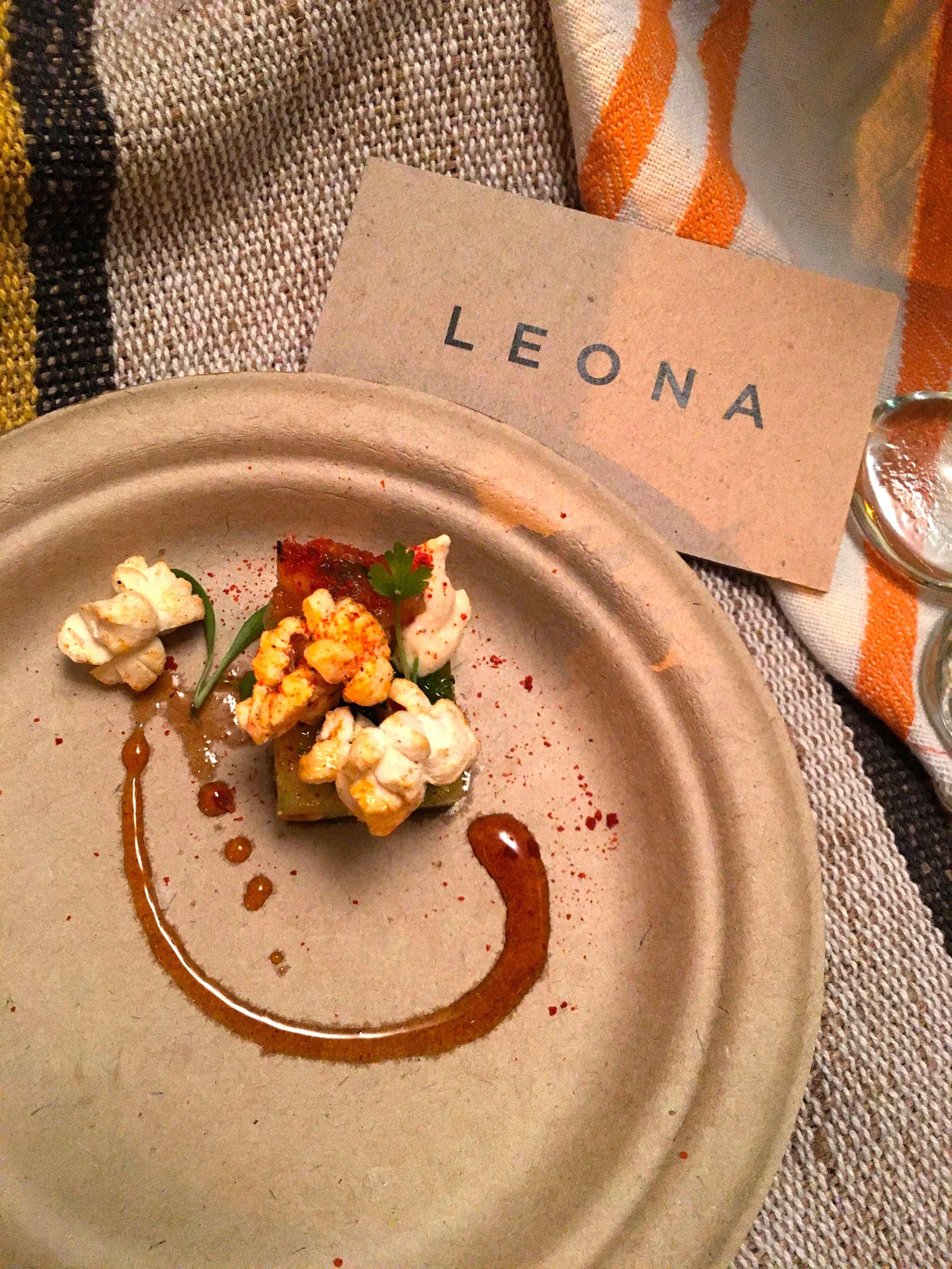Smokey Corn Masa with Cotija Crema. Leona.