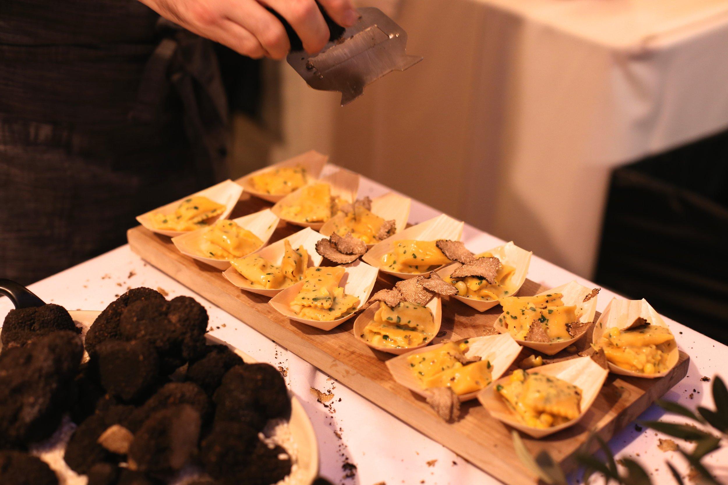 Corn Agnolotti and truffle. Chef Ian Gresik. DRAGO Centro. Los Angeles.
