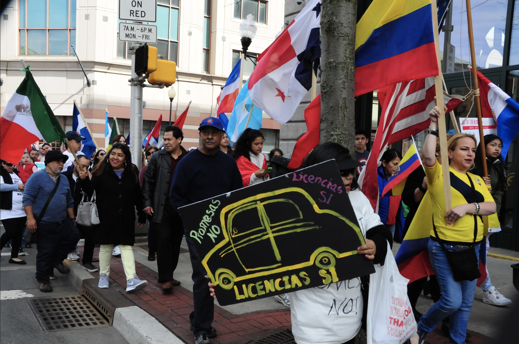 April 21,2018 - More than 700 people take the street of Trenton to voice the urgency of Drivers Licenses for the undocumented community in New Jersey. People came from near and far, many from Trenton and some as far as Atlantic City and Jersey City. United they chanted