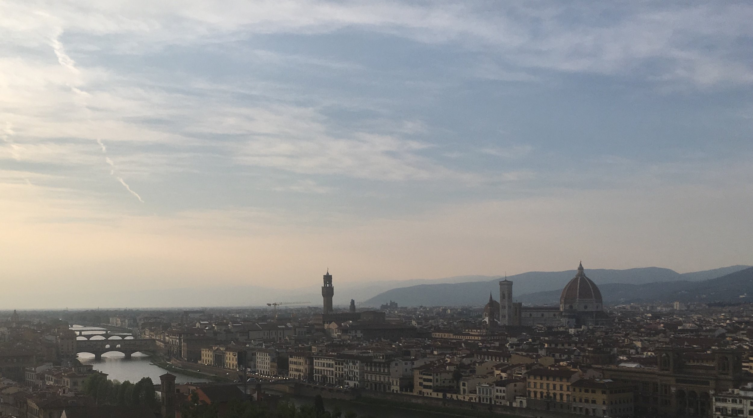 Looking out over Florence from San Niccolo. Photo by  Dylan Peterson .