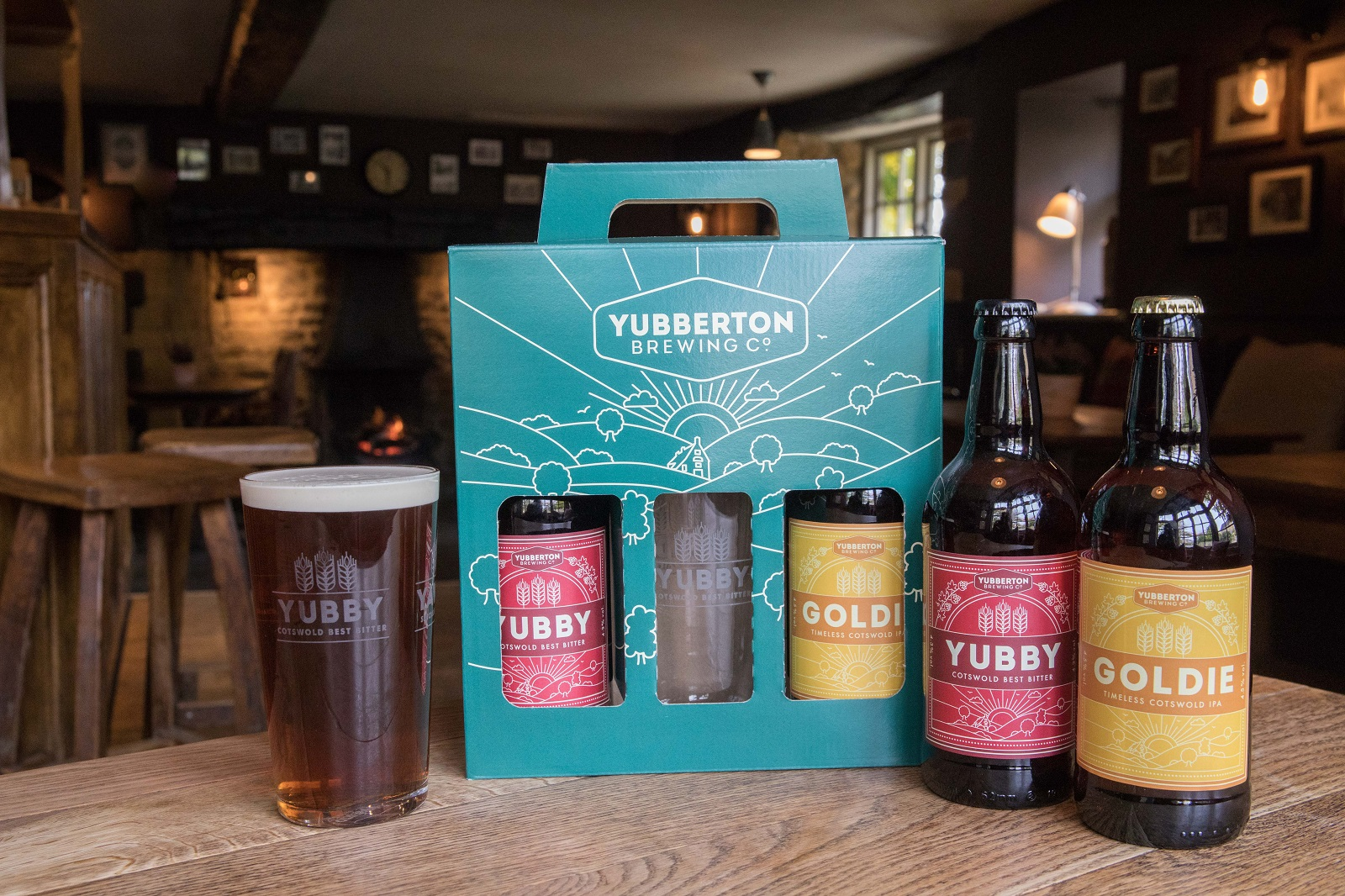 Purchase a 'Yubby' Ale Gift Set - Our own 'Yubby' ale gift sets are the perfect gift for ale lovers. Each gift set includes 3 bottles (1 x Yawnie, 1 x Yubby and 1 x Goldie) packaged in a gift box with carry handle.If you're staying with us, you can purchase one of these sets online as an optional extra for just £9.95 or drop in to the pub and pick one up!