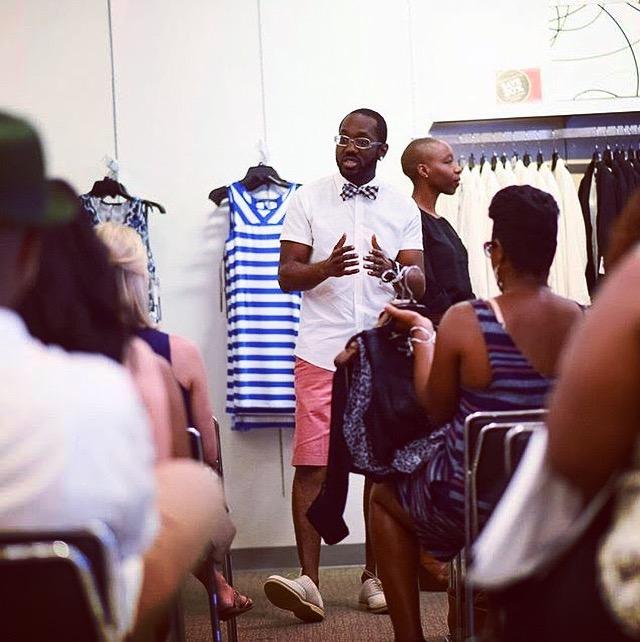 "Mobolaji facilitating his ""Style Your Magic"" workshop at Macy's."