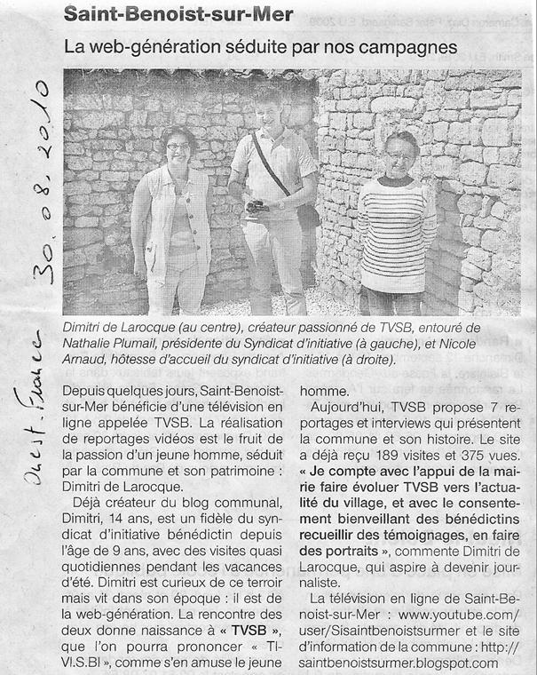 Ouest-France - 30 août 2010