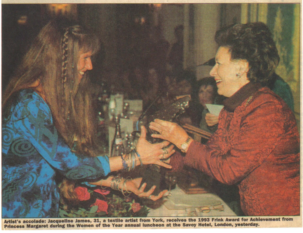 Receiving the Frink Award from Princess Margaret.