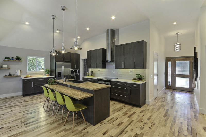 "we are beyond thrilled and excited! we are ranked in the best kitchen remodel category in the national ""GC (General Contractor) Magazine""!! they found us and loved our retro-classic, modern, and artsy kitchens! the one they featured here is an example of the latter. this particular kitchen emphasizes bold lines, contemporary fixtures, and metallic elements. love the sleekness of this design! we are so thankful for our team! teamwork makes the dreamwork!"