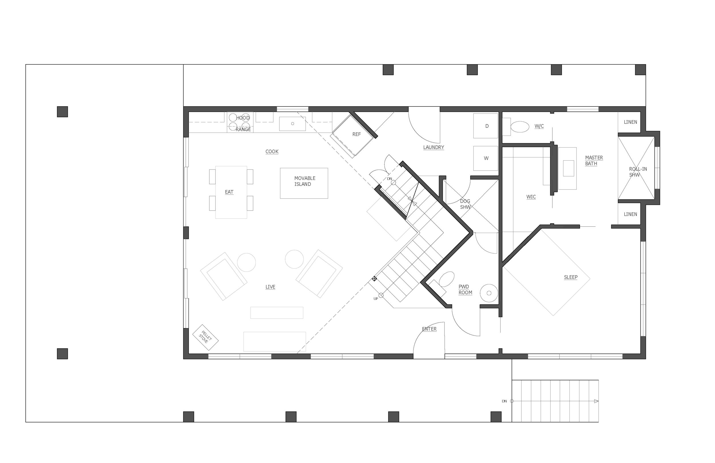 the main floor