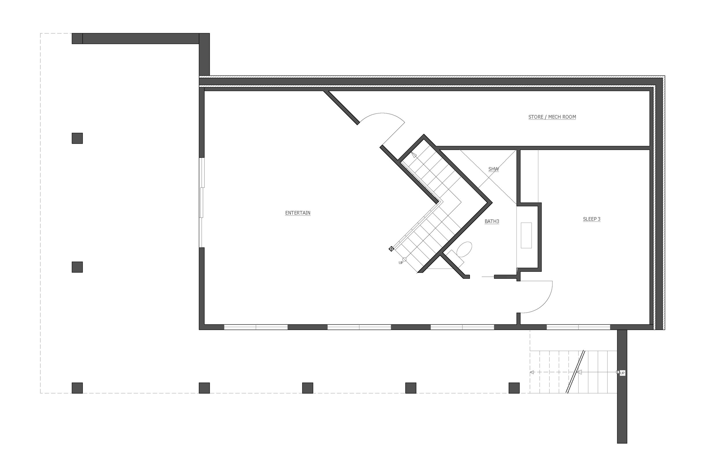 the basement level