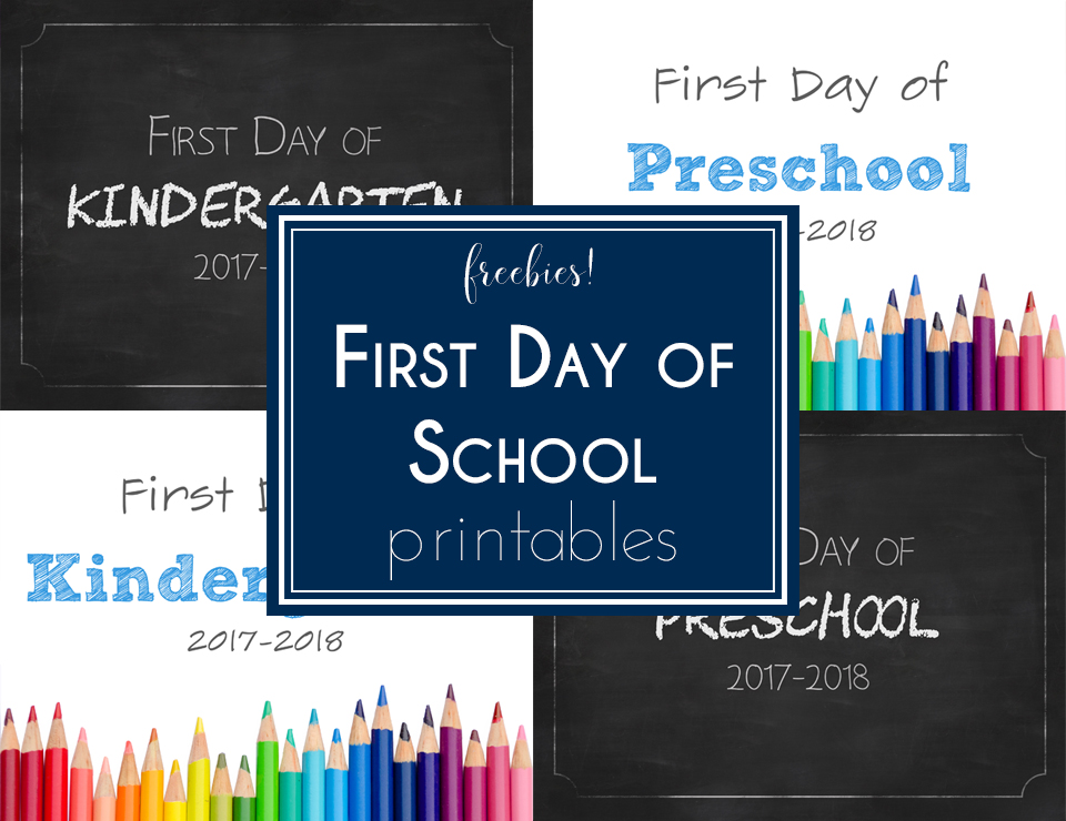 FREE First Day of School Printable Signs including Preschool through 12th Grade! Who doesn't love a good freebie?