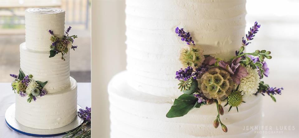 Washington Coast Wedding Cake