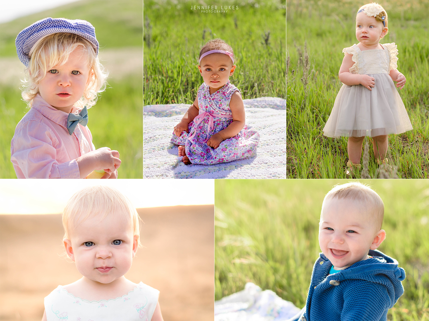 Bellevue babies outdoor first birthday photos.