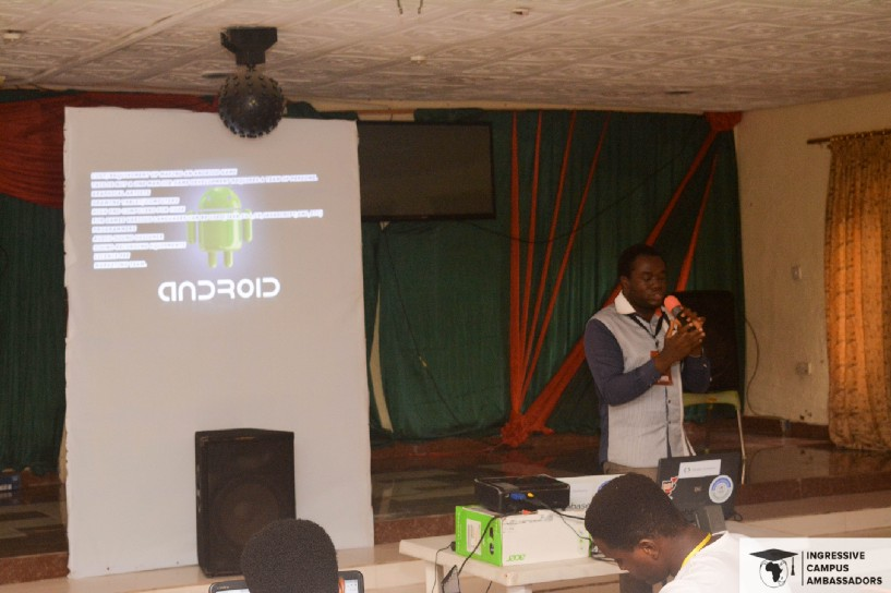 1st Speaker, Ifeanyi. Android Developer, and CEO of SmartOlive Games.