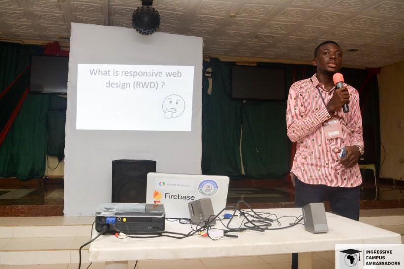Samuel.B. Woniowei, Giving his talk