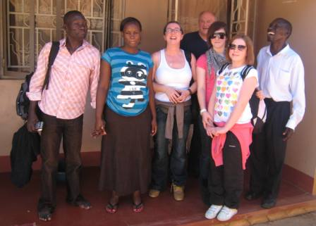 Sue, Megan and Lauren with some of the Ssekirimes.JPG