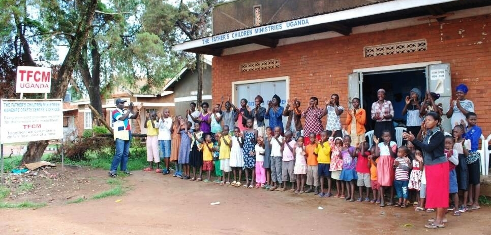 Celebrations at the TFCM training centre:our first BBC group being sent to school. 16 children from 8 families, supported by 16 overseas sponsors.