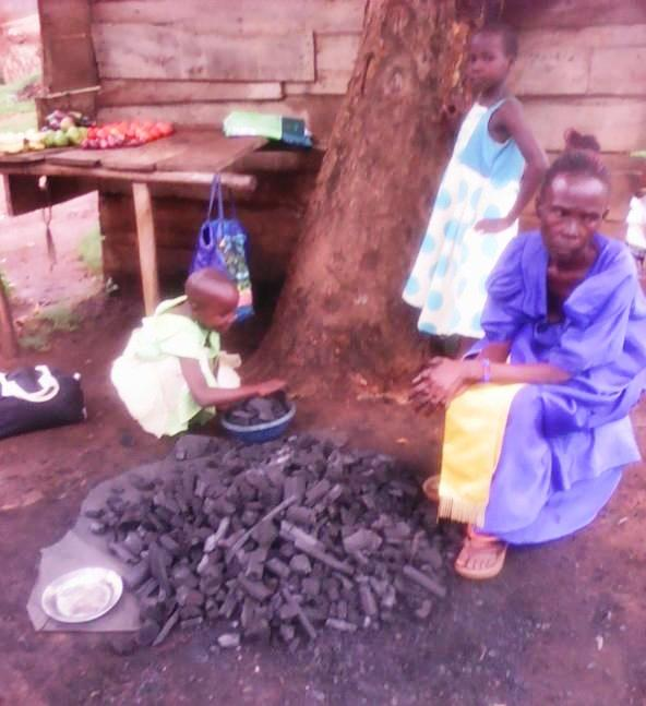 Making and selling charcoal brings in very little for Robina.