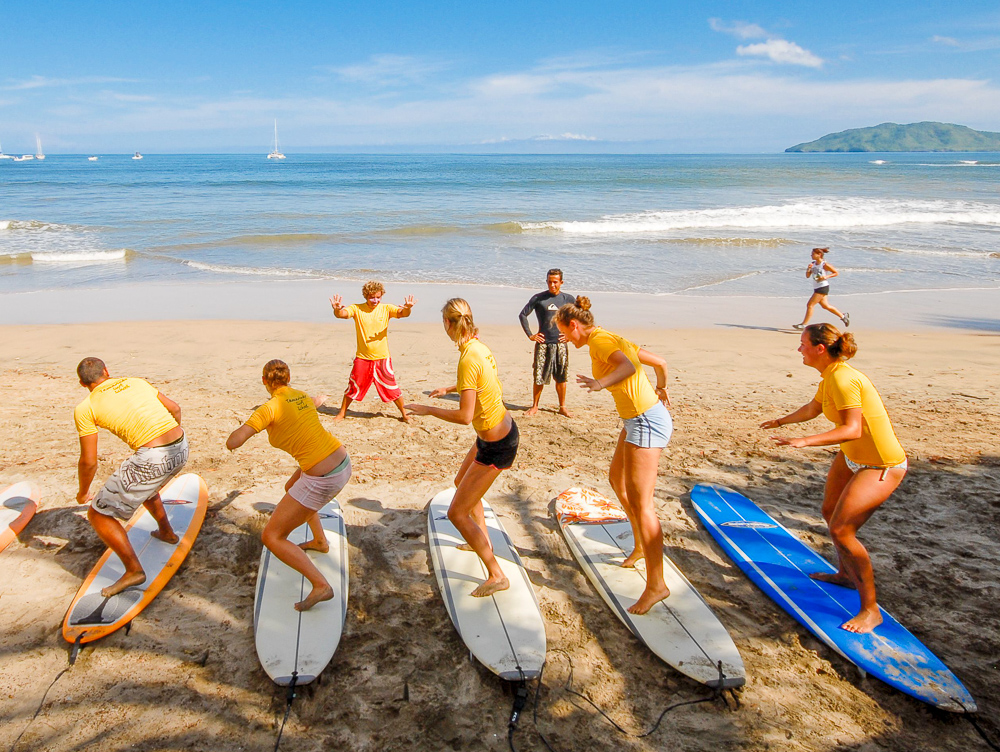 Tamarindo beach is ideal for beginner and intermediate surfers - it's the perfect place to learn how to surf - and there are boat tours available if you'd like to head out to more advanced waves