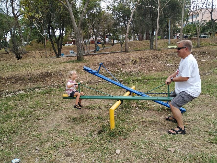Dario & Opa (my dad, Gary) at a neighborhood playground