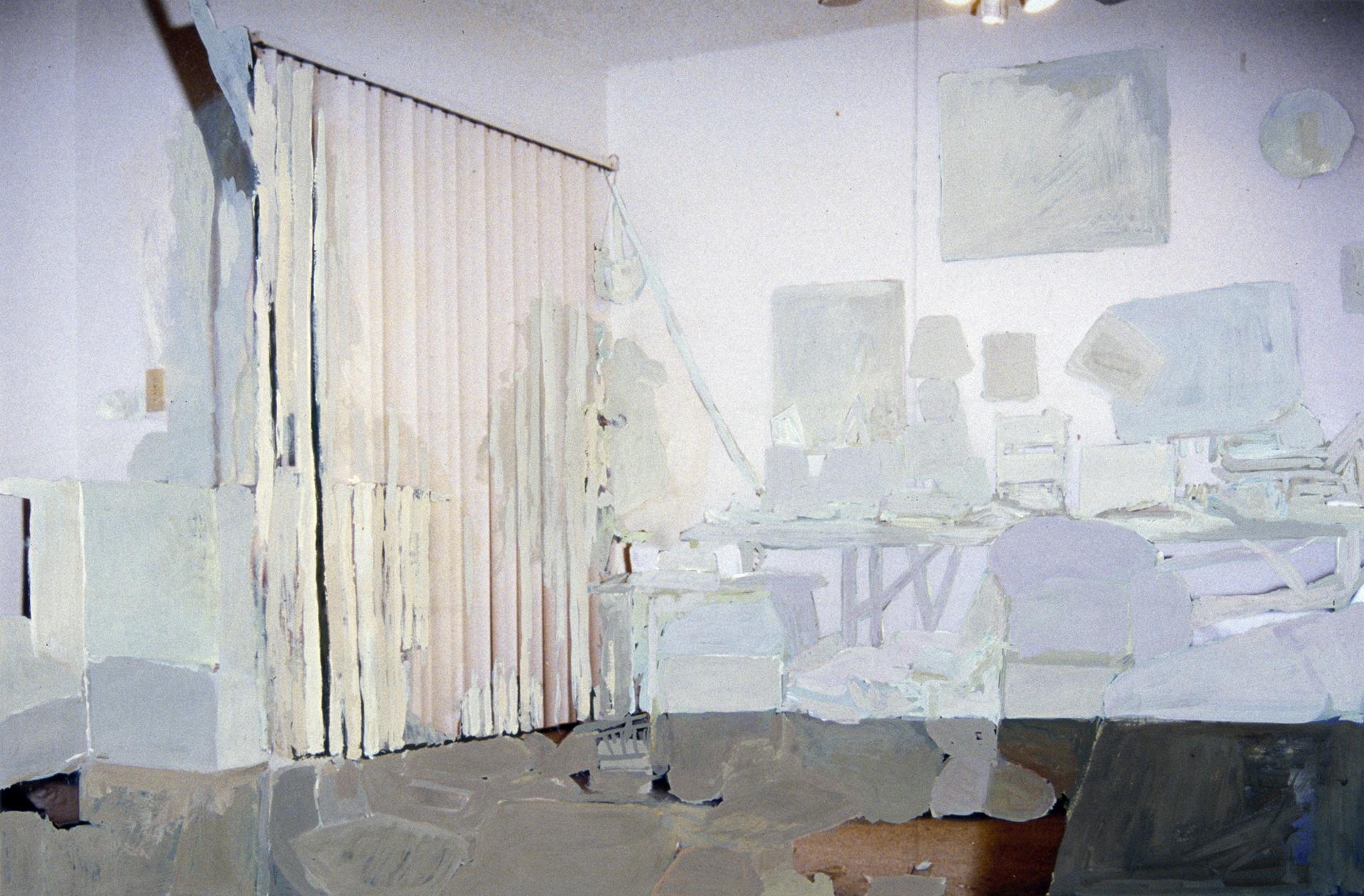1775 SE Columbia Drive, #203, living room and balcony