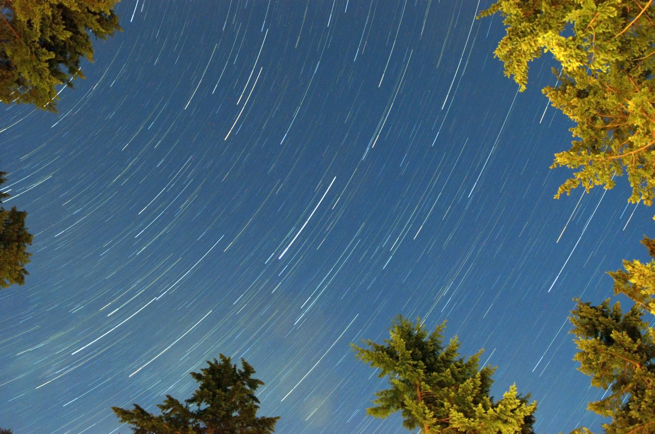 Star trails at Pender Island