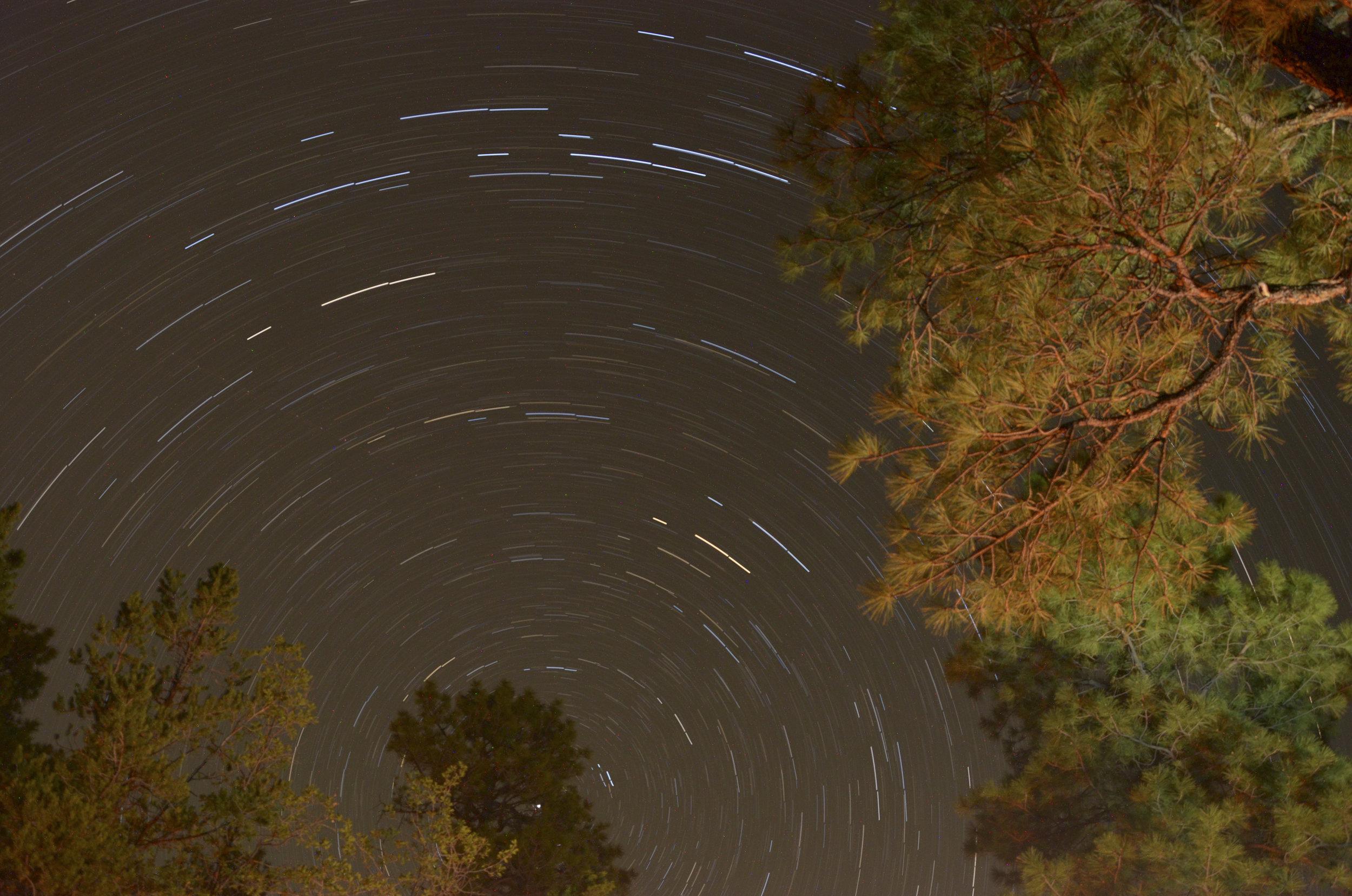 Star trails at Grand Canyon