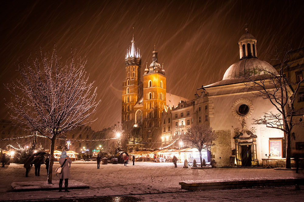 Main Square in the Snow - magical!