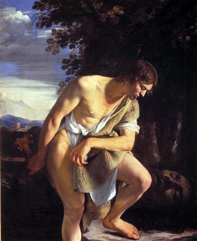Orazio Gentileschi – David con la testa di Golia (1610)