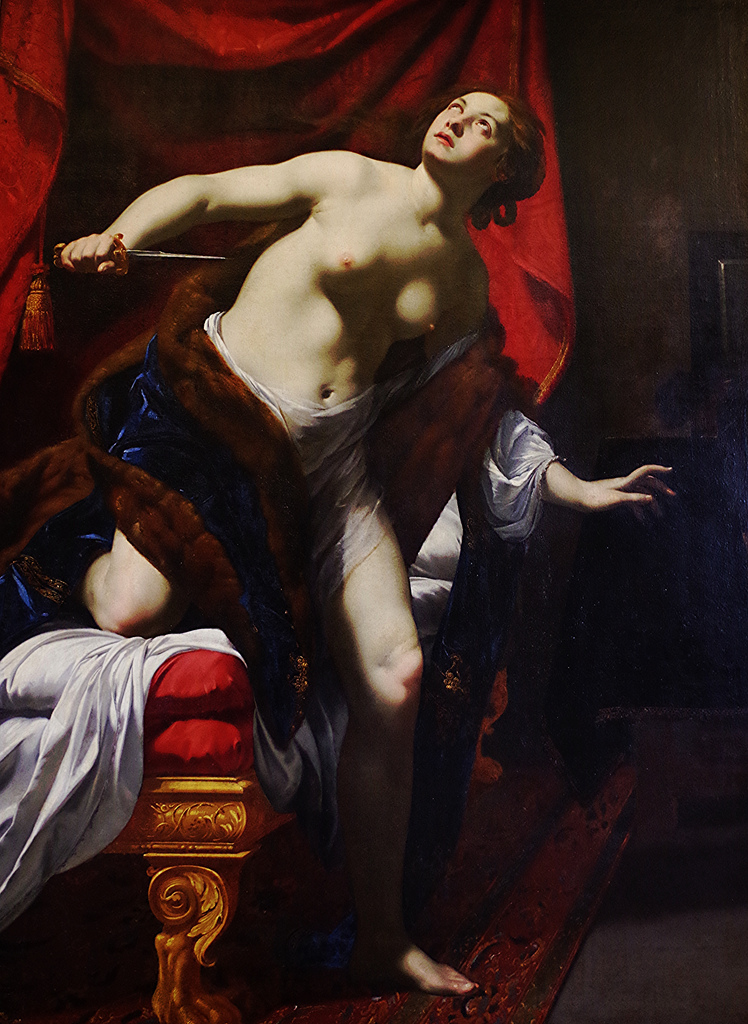 Simon Vouet – Il suicidio di Lucrezia (1624)