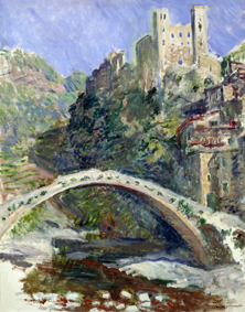 MMT166334 Credit: The Castle of Dolceacqua, 1884 (oil on canvas) by Claude Monet (1840-1926)Musee Marmottan, Paris, France/ The Bridgeman Art LibraryNationality / copyright status: French / out of copyright