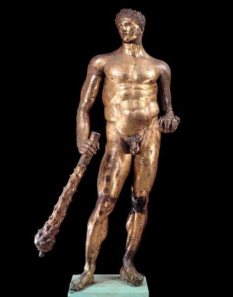 Statua di Ercole in bronzo dorato ai Musei Capitolini