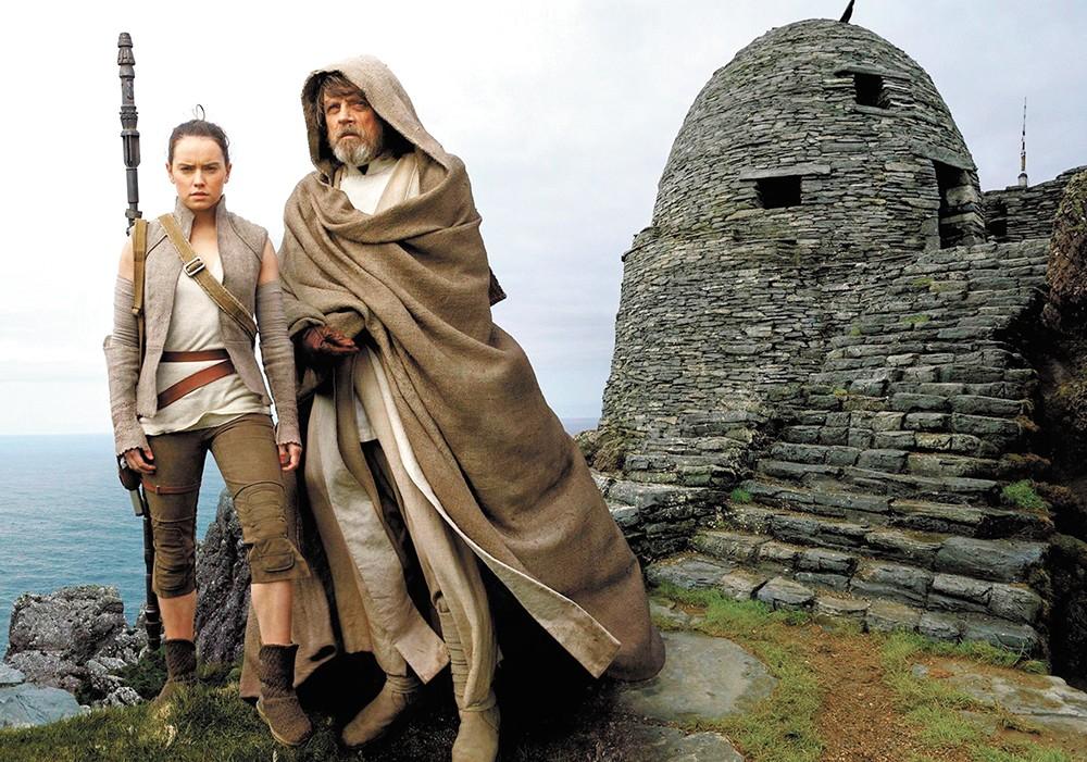 Rey e Luke Skywalker
