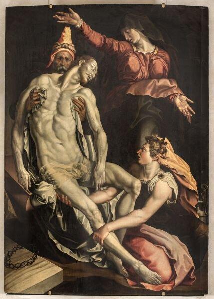 Deposizione, Jacopino del Conte.